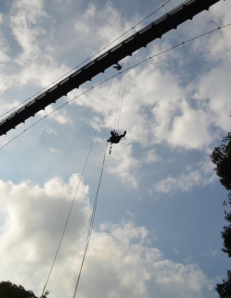 鬼の舌震 恋吊り橋 レスキュー訓練